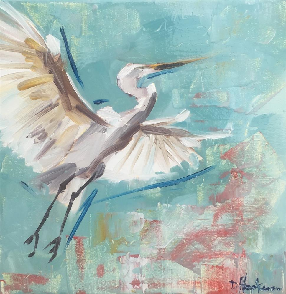 """Took Wing to Fly"" original fine art by Denise Hopkins"