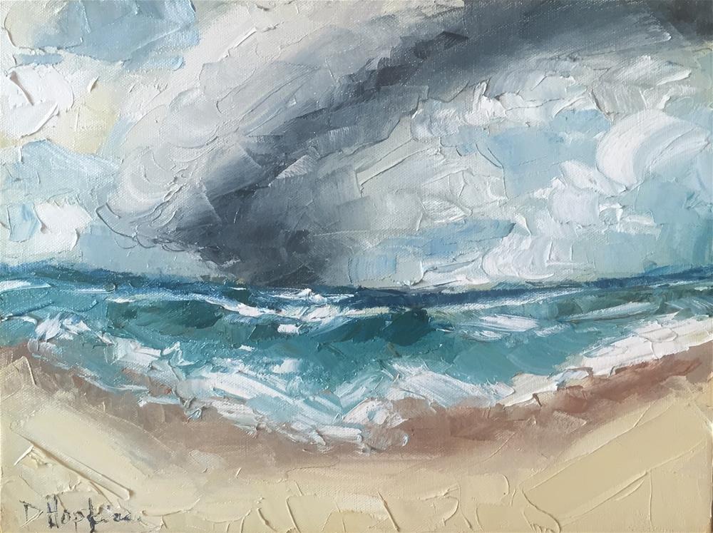 """Where the Ocean Meets the Sky"" original fine art by Denise Hopkins"