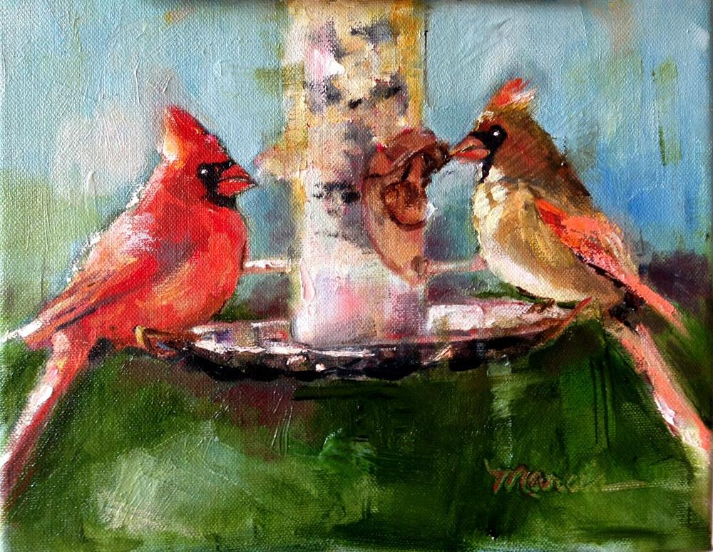 """A Table For Two"" original fine art by Marcia Hodges"