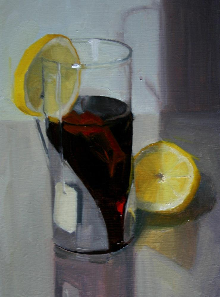 """Lemon Tea"" original fine art by Liz Balkwill"