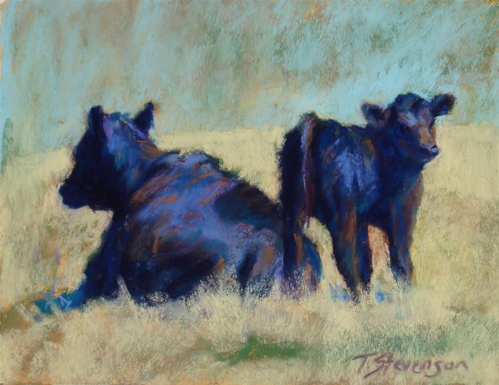 """Me and Mama"" original fine art by Trish Stevenson"