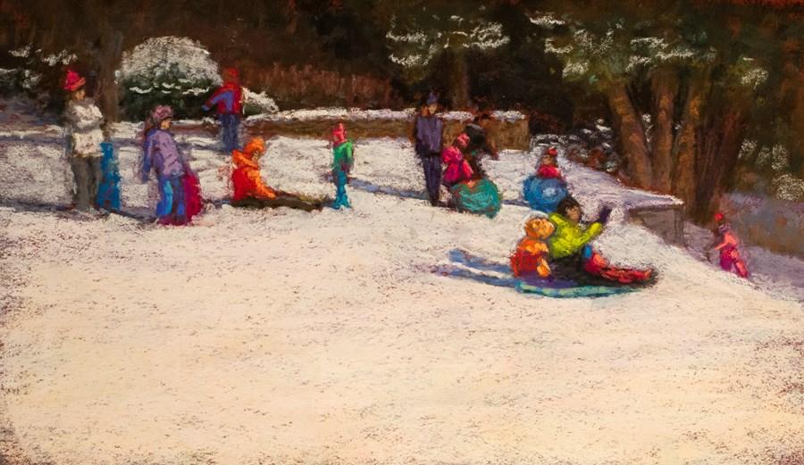 """Chasing January"" original fine art by karen israel"