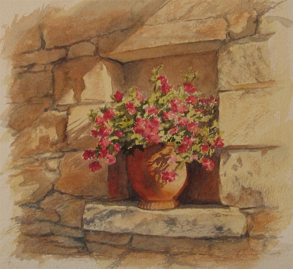 """""""Garden Niche"""" original fine art by Vikki Bouffard"""
