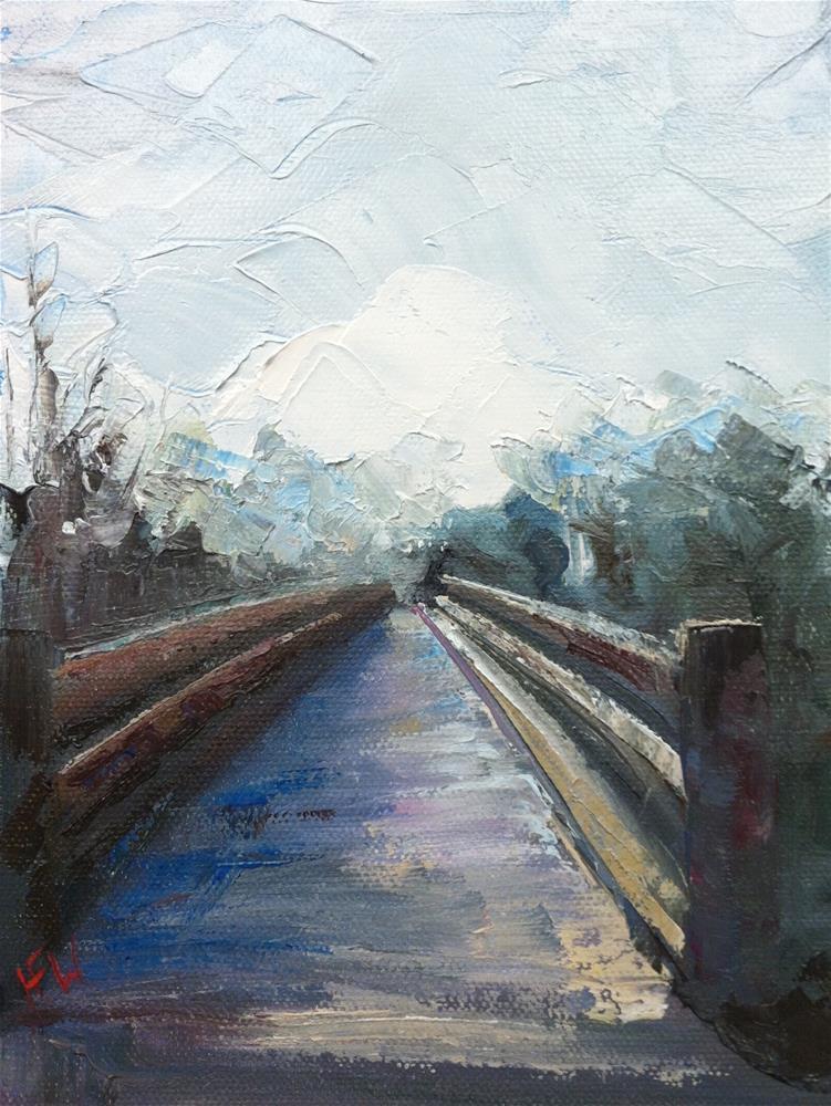 """Willow creek bridge"" original fine art by H.F. Wallen"