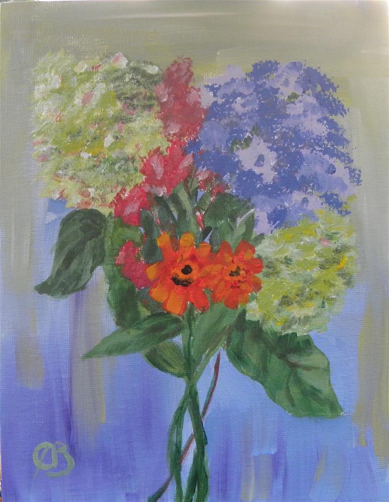 """""""summer bouquet"""" original fine art by cheryl buhrman"""