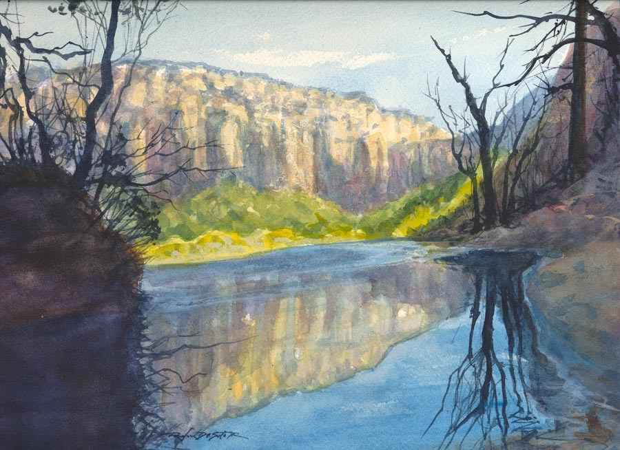 """Middle Emerald Pool, Zion"" original fine art by Rafael DeSoto Jr."