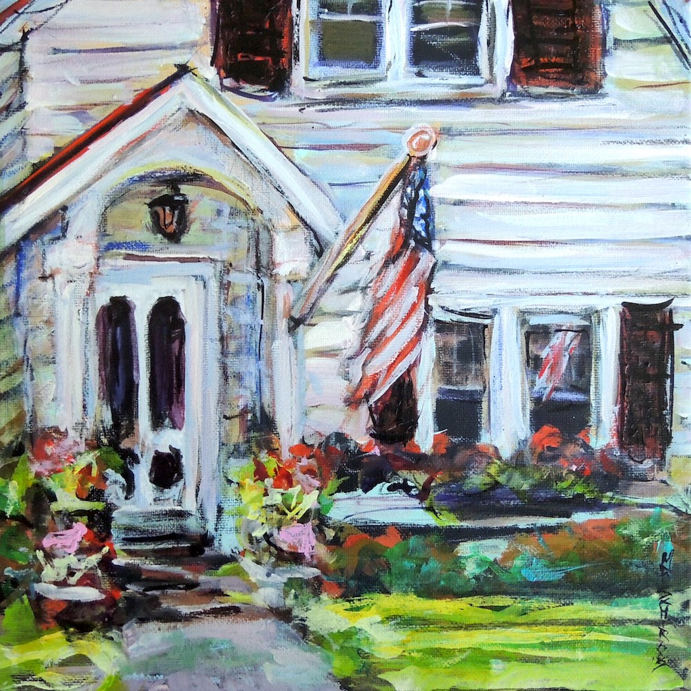 """Porch"" original fine art by Mary Schiros"