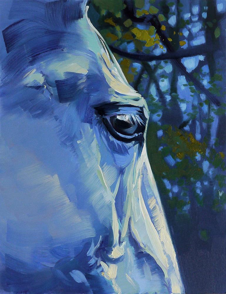 """fifty fifty"" original fine art by Beata Musial-Tomaszewska"