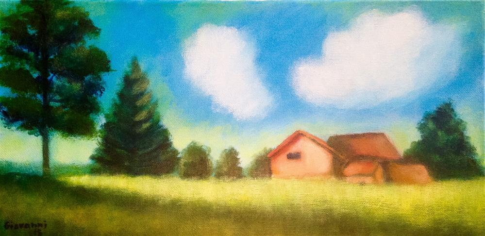 """The tree and the barn"" original fine art by Giovanni Antunez"