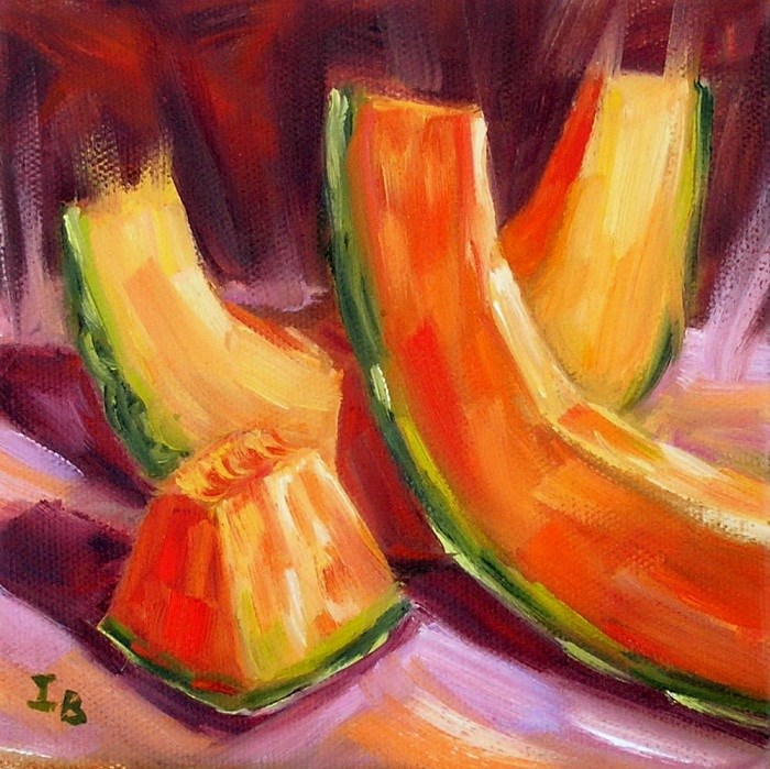 """Melon study"" original fine art by Irina Beskina"