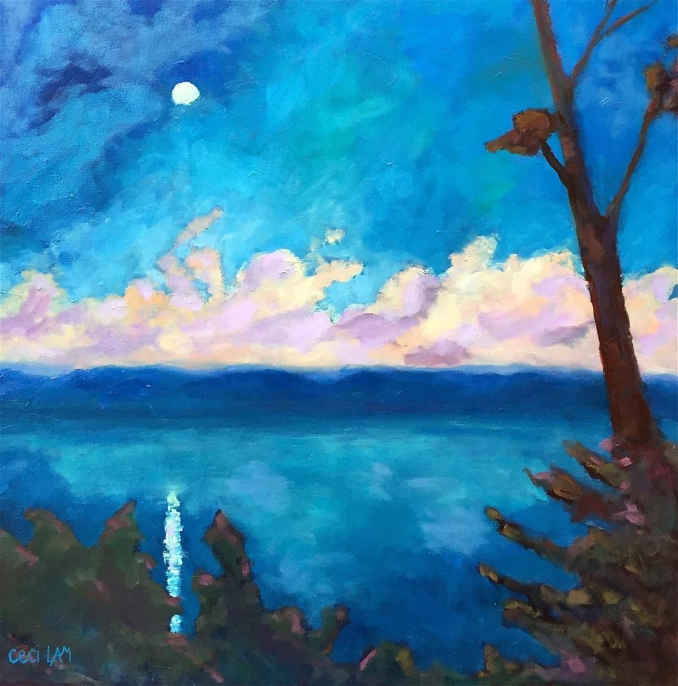 """Island Time 24 x 24 oil on canvas"" original fine art by Ceci Lam"