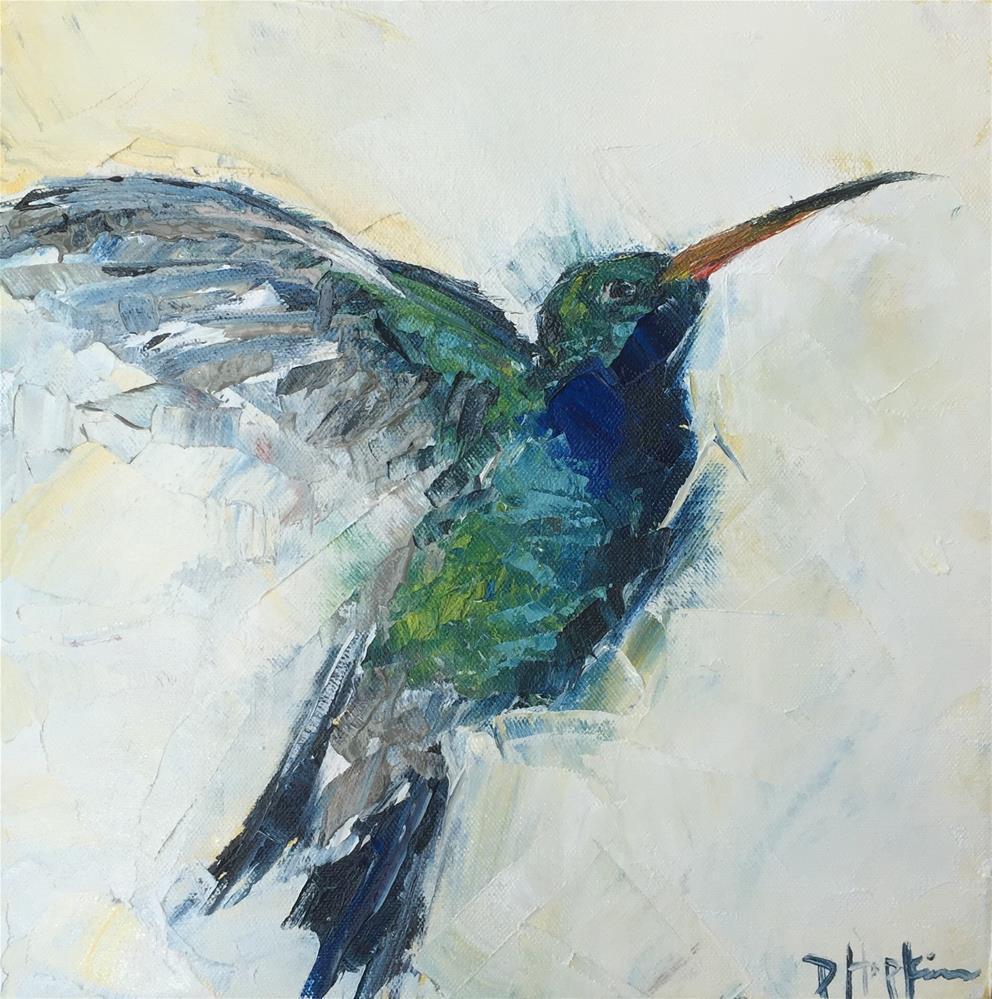 """""""Flighty"""" original fine art by Denise Hopkins"""