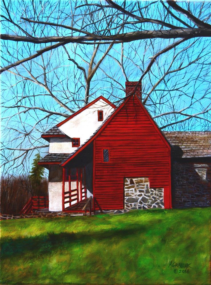 """Study- Gilpin House: Brandywine, PA"" original fine art by Aaron Grabiak"