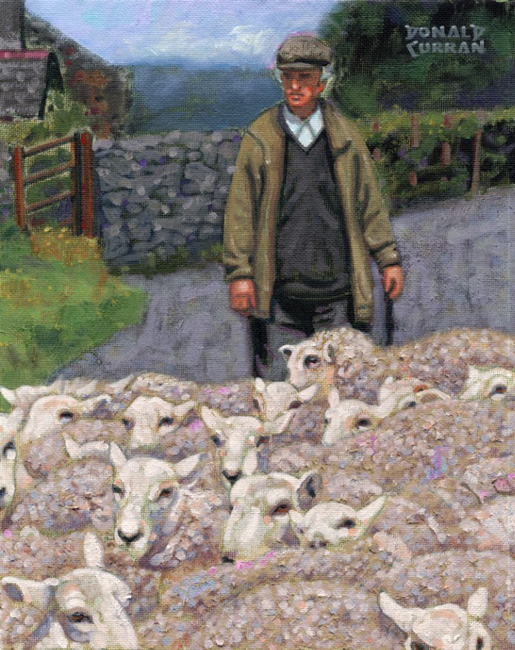 """Shepherd"" original fine art by Donald Curran"