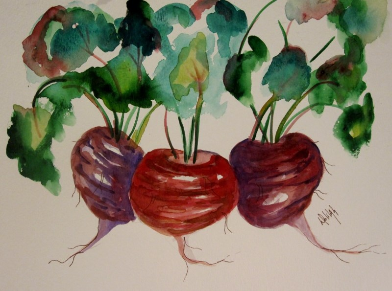 """Beets No. 2"" original fine art by Delilah Smith"
