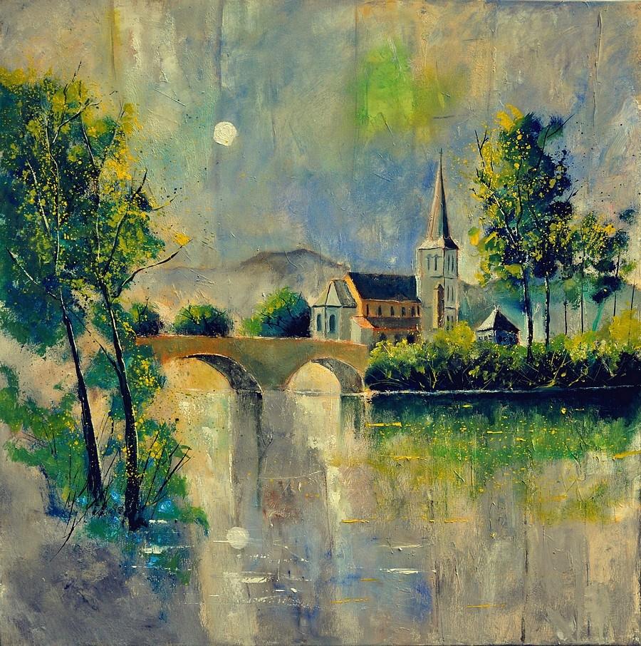 """Anseremme Dinant"" original fine art by Pol Ledent"