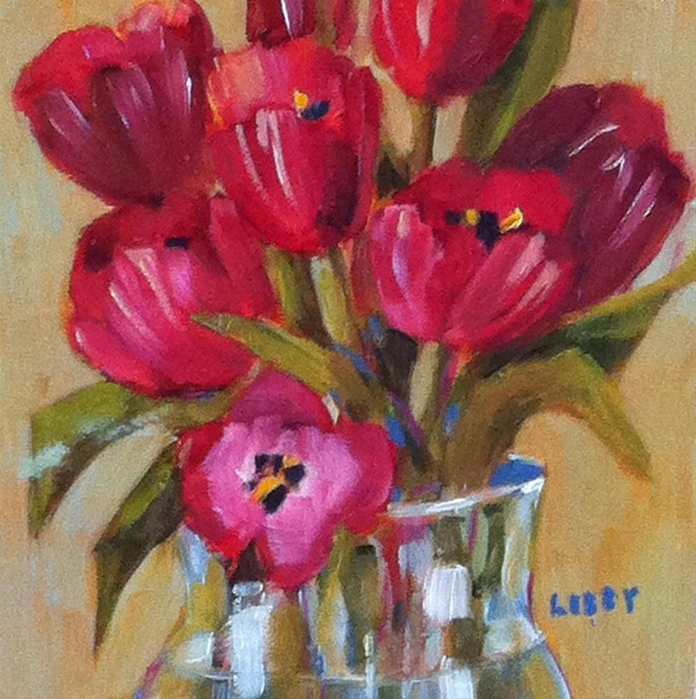 """Red Enough"" original fine art by Libby Anderson"