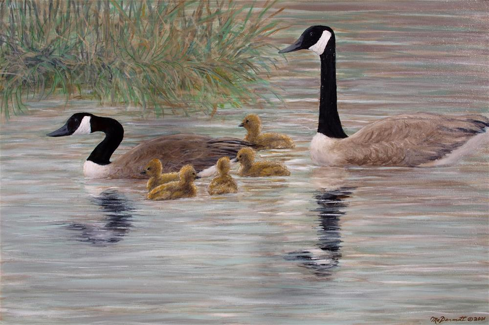 """Canada Goose Family"" original fine art by Kathleen McDermott"