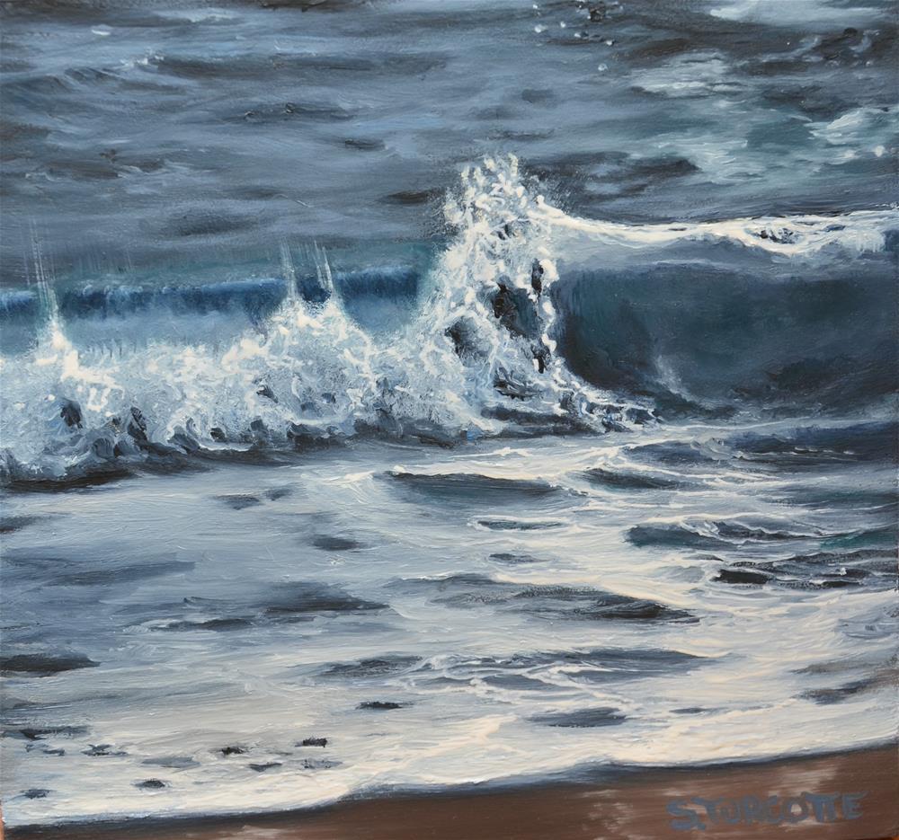 """Wave Study 2"" original fine art by Shayna Turcotte"