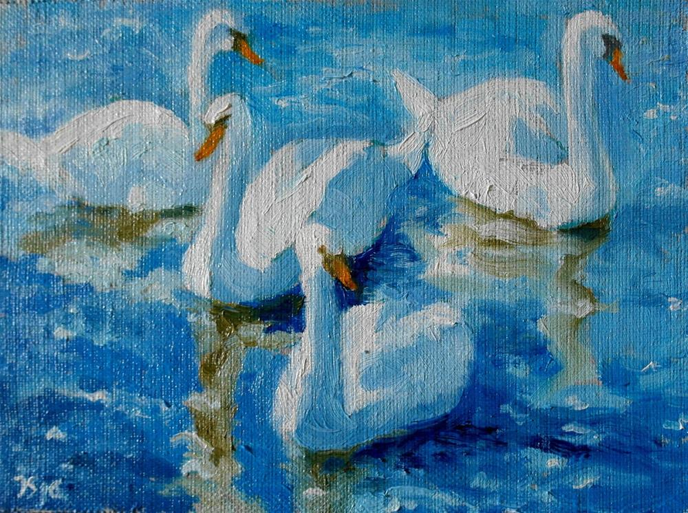 """swans"" original fine art by Juri Semjonov"