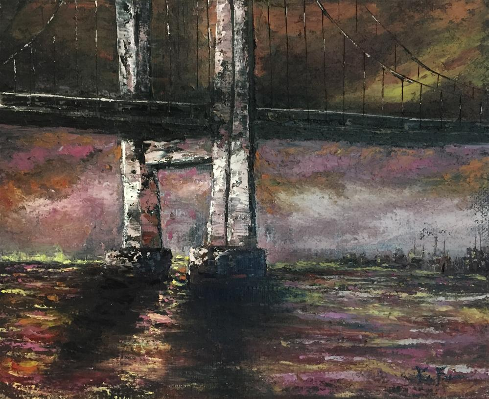 """The Bridge"" original fine art by Ken Fraser"