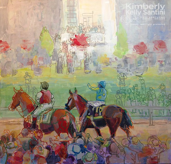 """American Pharoah, Triple Crown Champion!!"" original fine art by Kimberly Santini"