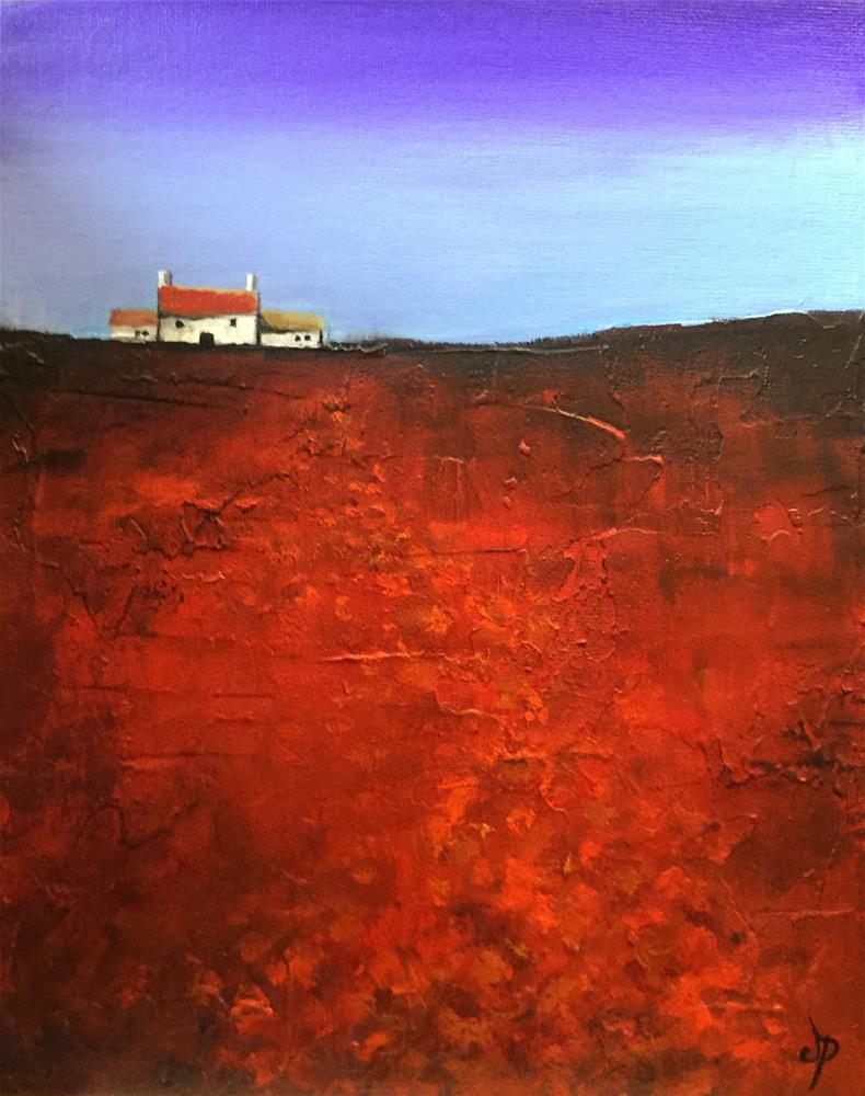 """Maes Coch"" original fine art by Jane Palmer"