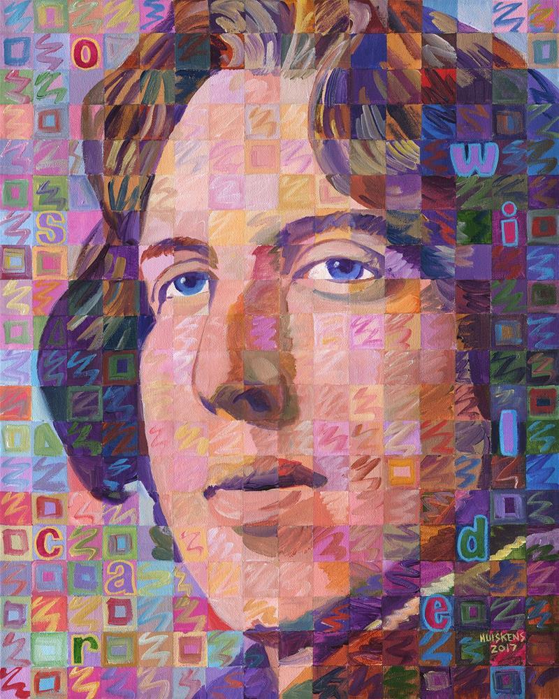 """""""Portrait Of Oscar Wilde"""" original fine art by Randal Huiskens"""