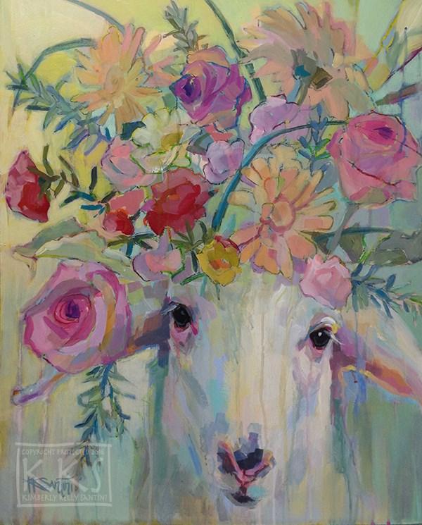 """Mary's Little Lamb"" original fine art by Kimberly Santini"