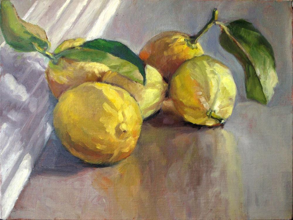 """""""Philip's lemons"""" original fine art by Myriam Kin-Yee"""