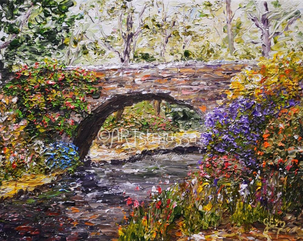 """Hemmingway Crossing"" original fine art by Gloria Ester"
