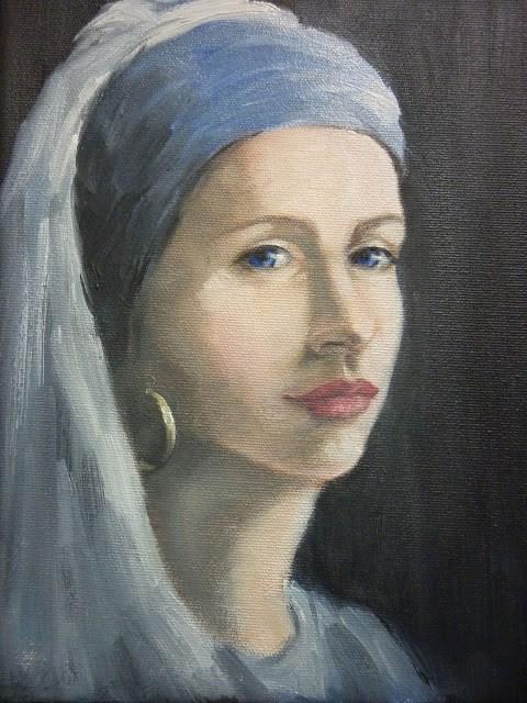 """Different Girl, Different Earring"" original fine art by Helene Adamson"