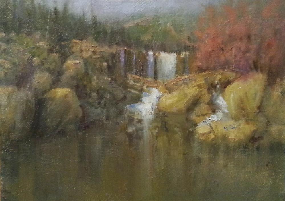 """Warm Trails, Cool Waters"" original fine art by devin roberts"