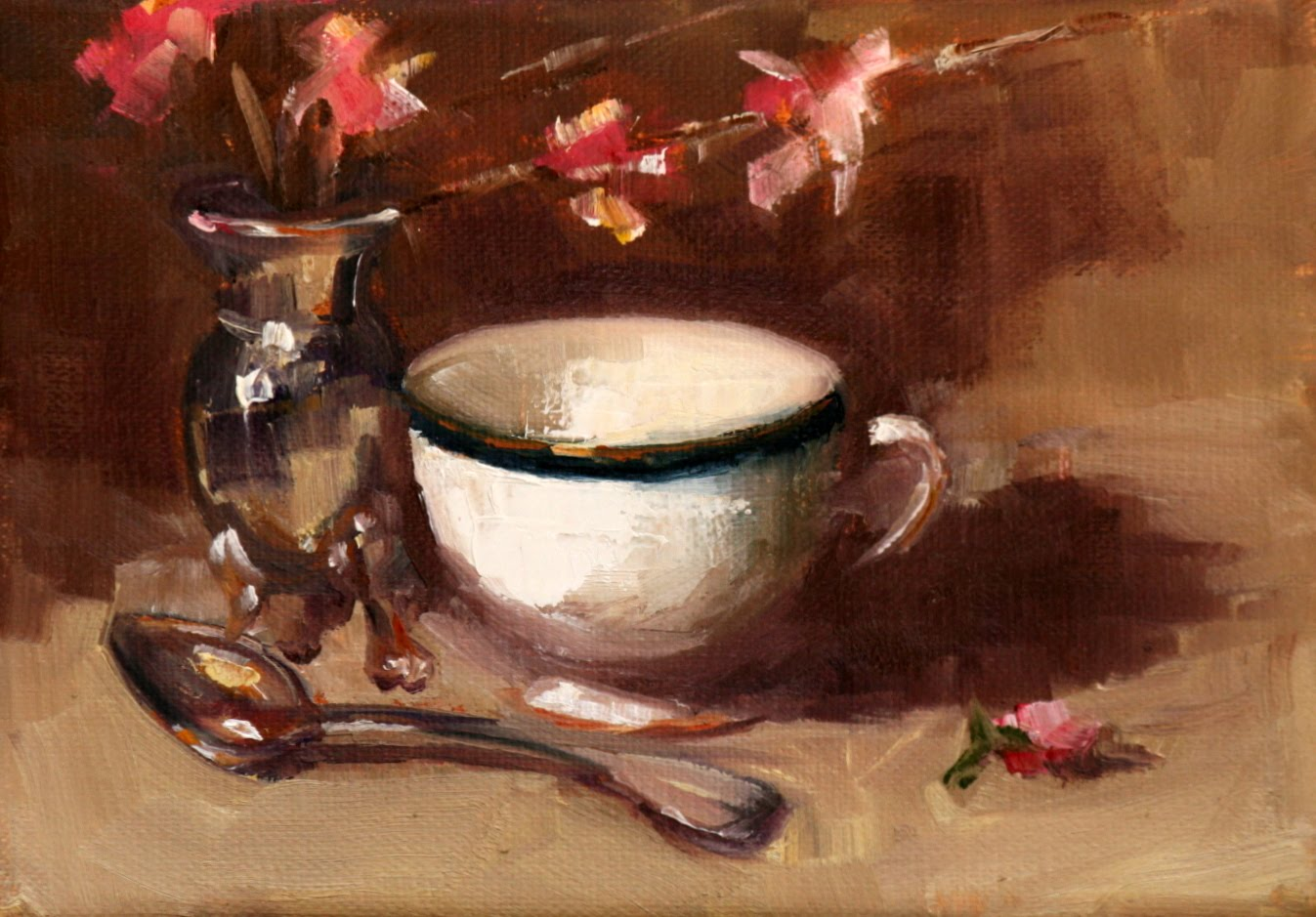 """tea time"" original fine art by Carol Carmichael"