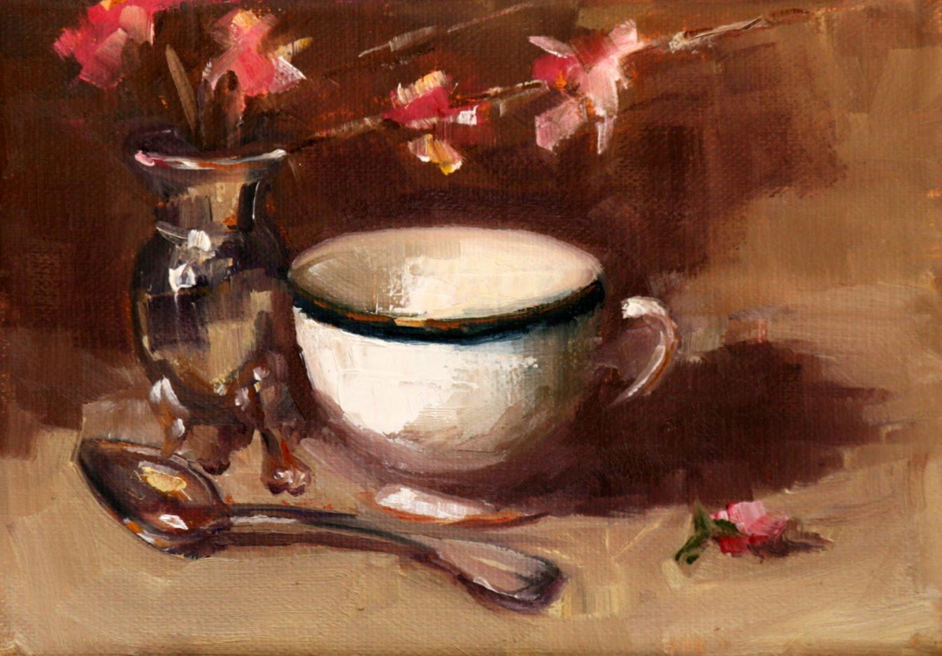 """""""tea time"""" original fine art by Carol Carmichael"""