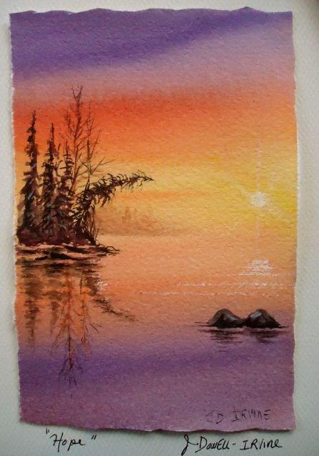 """Serenity Series No. 7"" original fine art by Jackie Irvine"