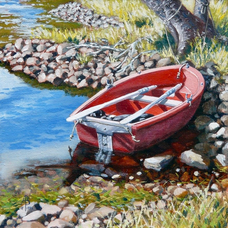 """""""Up a Creek with Two Paddles"""" original fine art by Alix Baker PCAFAS AUA"""