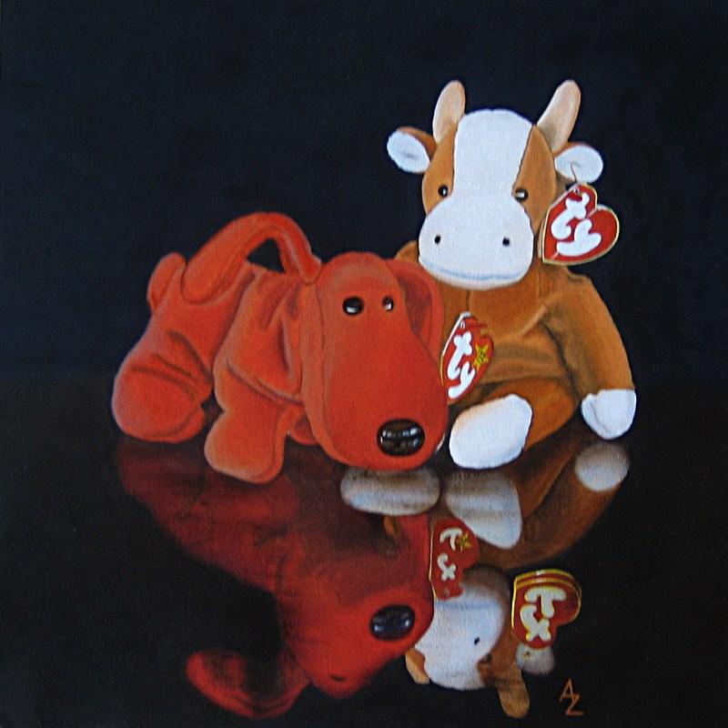 """""""Rover and Bessie"""" original fine art by Alex Zonis"""