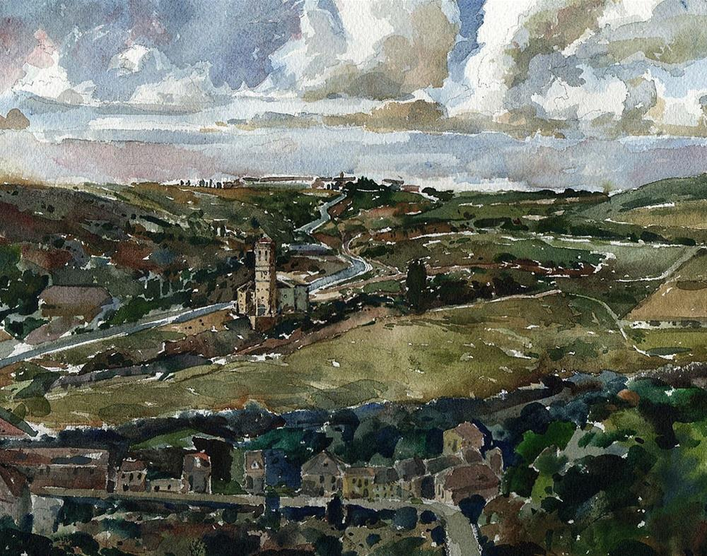 """The View From Alcázar de Segovia"" original fine art by Stephen Ravenscraft"