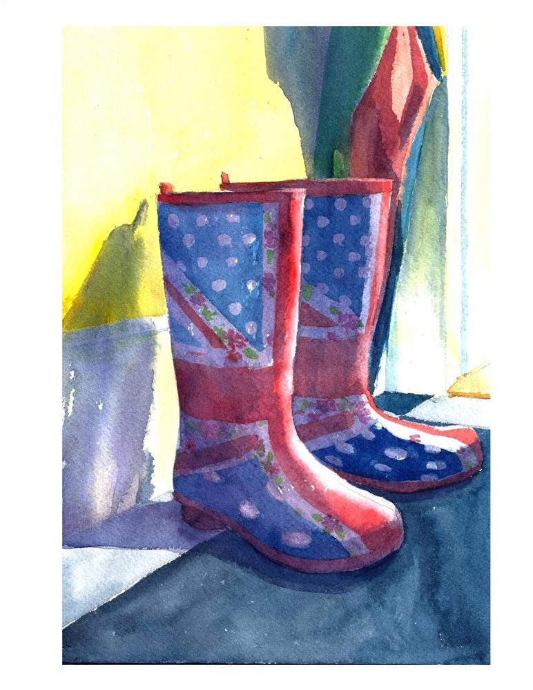 """Bri's Wellies"" original fine art by Suzanne Woodward"