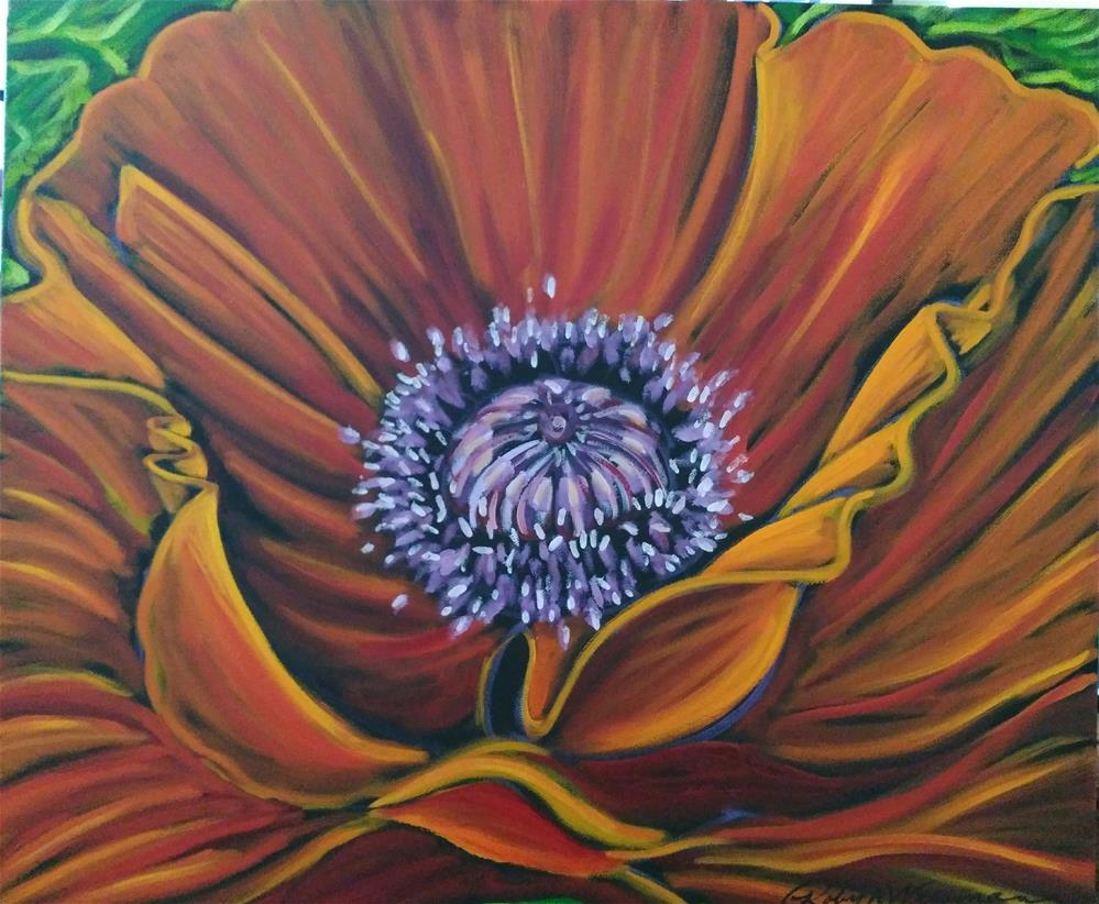 """Poppy close up"" original fine art by Robyn Wellman"