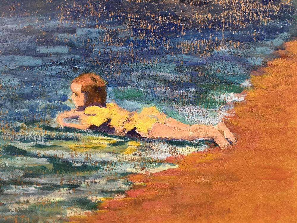 """Girl on the Beach"" original fine art by Judith Anderson"