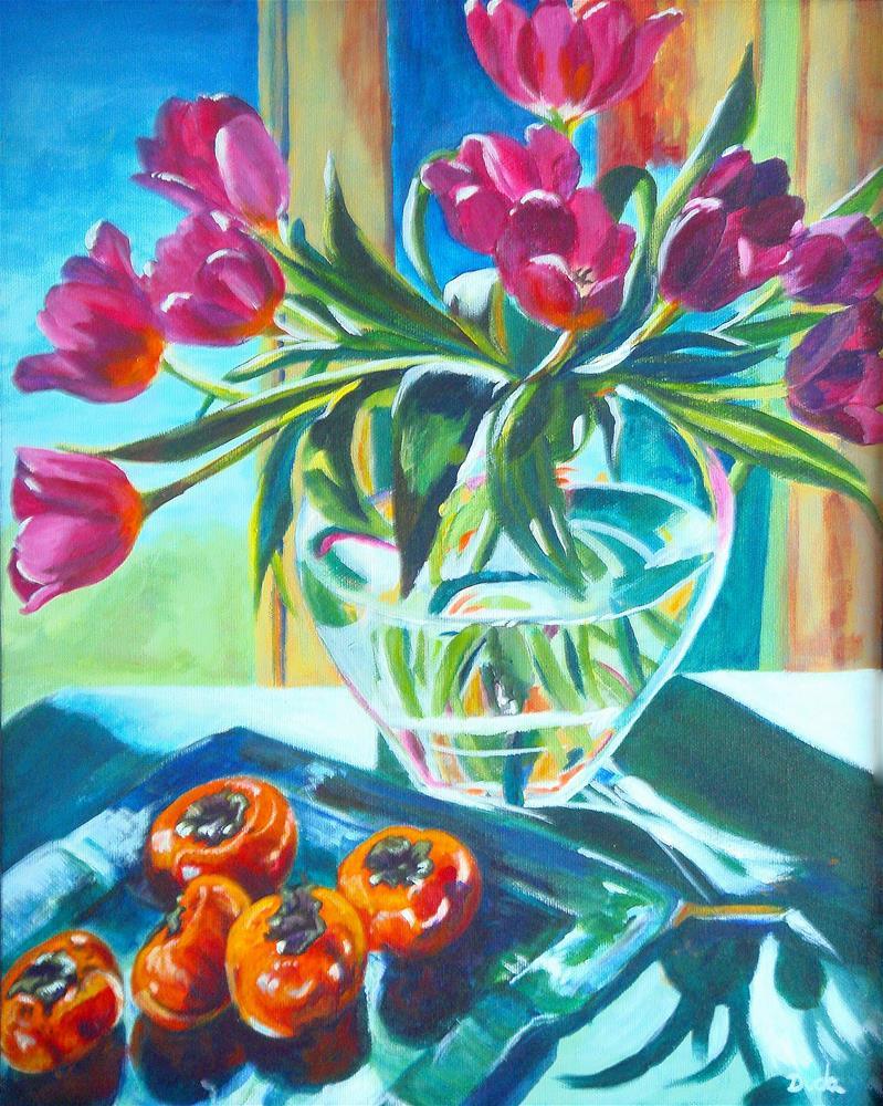 """Carins Tulips"" original fine art by Susan Duda"