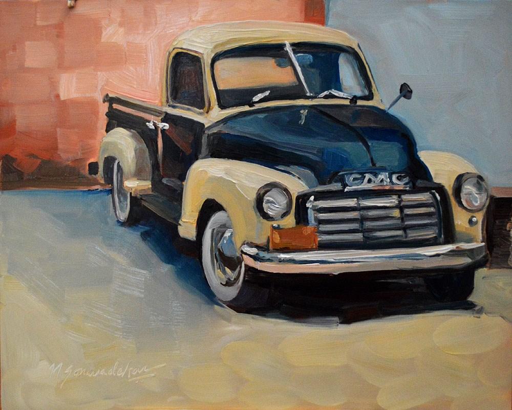"""GMC Truck"" original fine art by Nikita Sonavadekar"