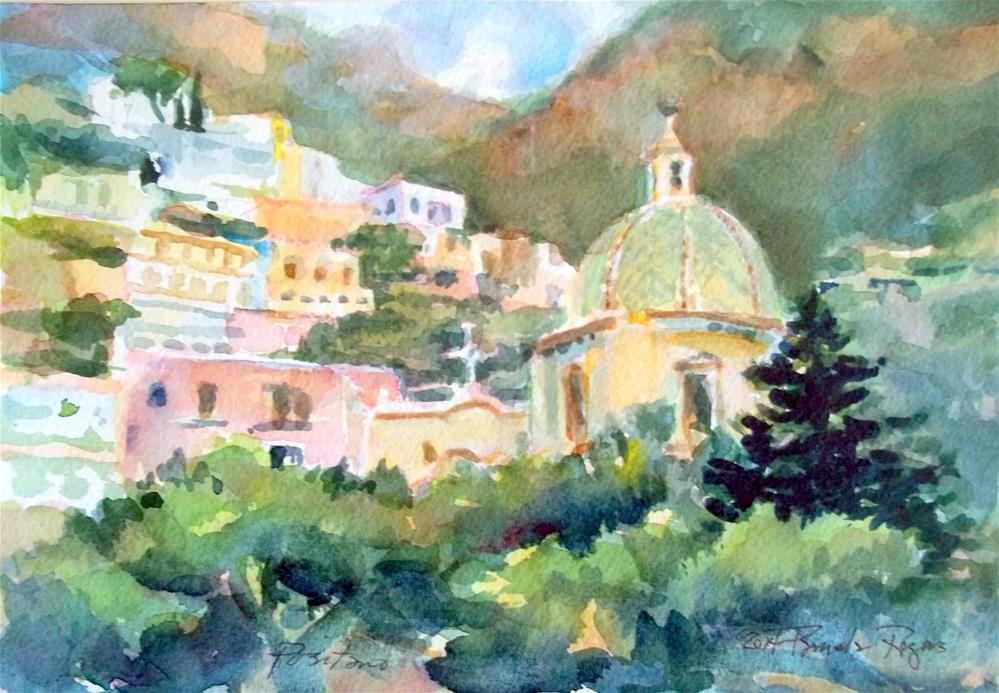 """Positano 2014"" original fine art by Pamela Jane Rogers"