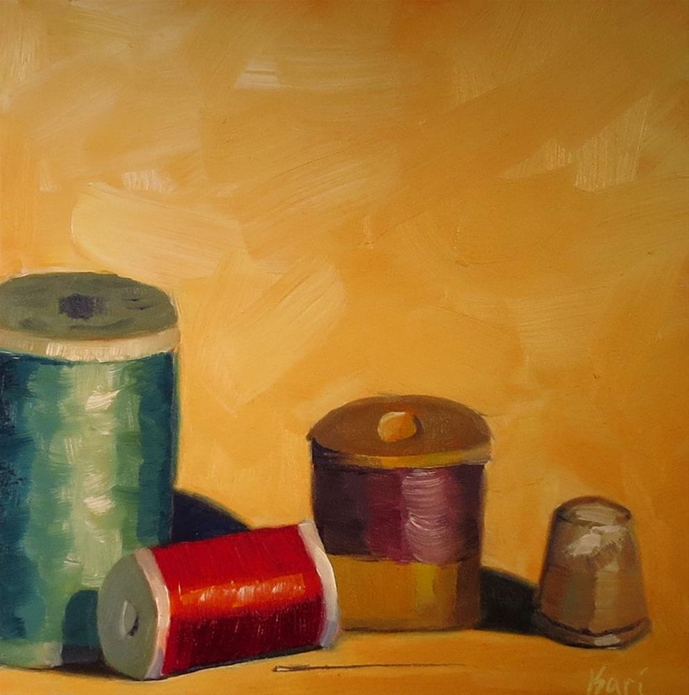 """Half Spool"" original fine art by Kari Melen"