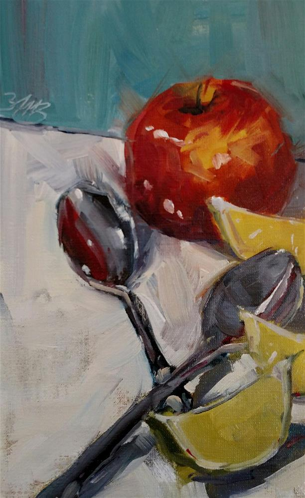 """Apple and Limes"" original fine art by Brienne M Brown"