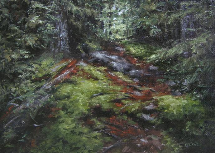 """""""LP4  Hemlock Trail"""" original fine art by Danny O'Leary"""