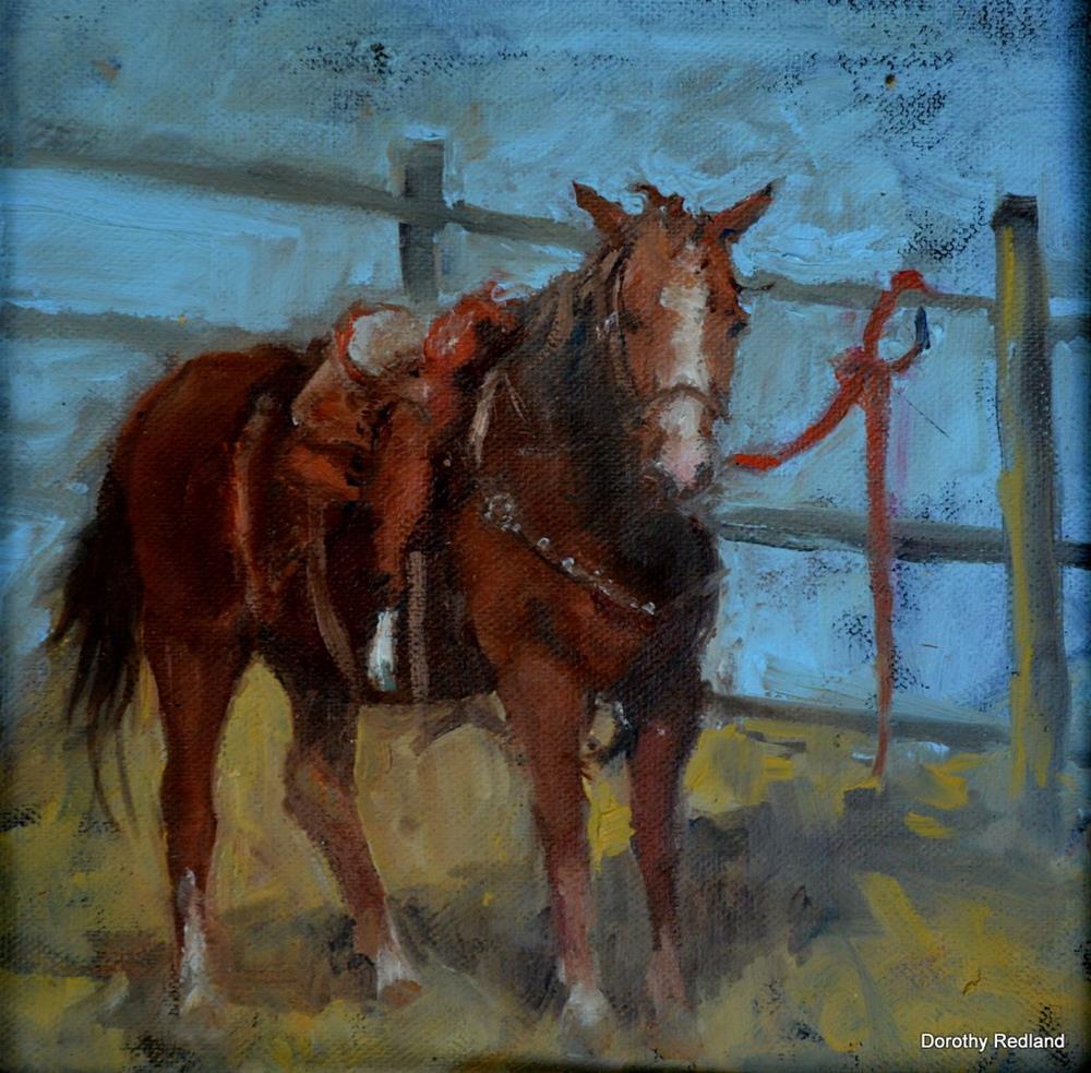 """Just Waiting"" original fine art by Dorothy Redland"