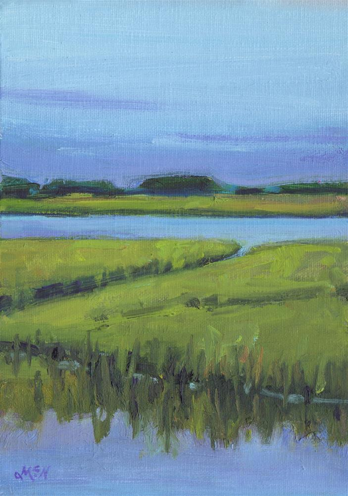 """Inlet"" original fine art by Michel McNinch"